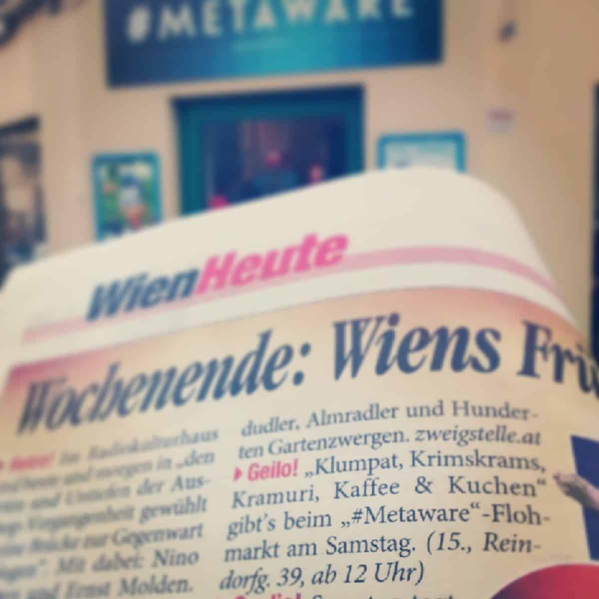 Metaware Tipp in der Tageszeitung HEUTE