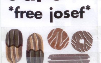 Flyer zum free josef vegan bake sale