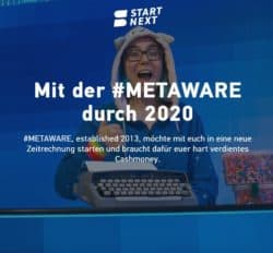 Screenshot vom Metaware Crowdfunding bei Startnext.com